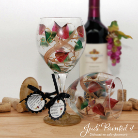 Autumn wrap wine glass
