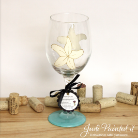 Star fish wine glass